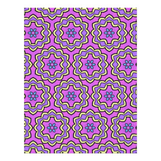 Colorful multicolor repeat patterns personalized letterhead