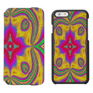 Colorful multicolored abstract pattern incipio watson™ iPhone 6 wallet case