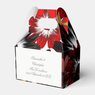 Colorful multicolored orange flowers wedding favor box