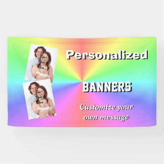 Colorful multicolored pastel rainbow banner