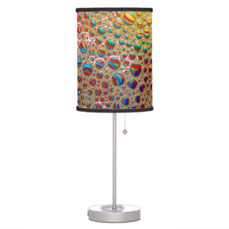 Colorful Multicolored Soap Bubbles Art Desk Lamp