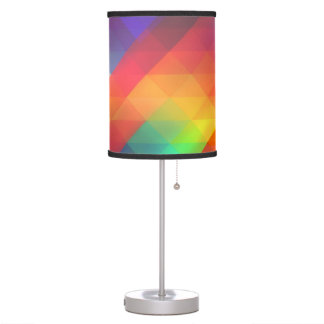 Colorful Multicolored Triangle Pattern Table Lamp