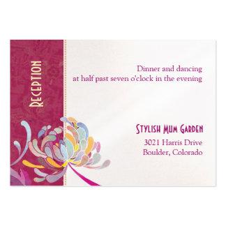 Colorful Mum Wedding Reception Enclosure (3.5x2.5) Business Card Template