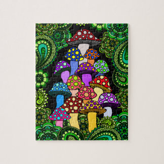 Colorful Mushrooms Jigsaw Puzzle