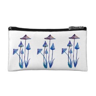Colorful Mushrooms Small Cosmetic Bag