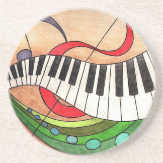 Colorful Music Coaster