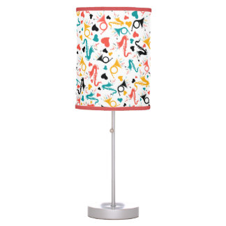 Colorful Music Instruments Note & Hearts Pattern Table Lamp