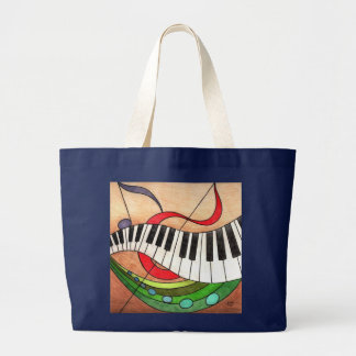 Colorful Music Large Tote Bag