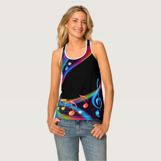 Colorful Music Notes Tank Top