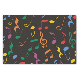 Colorful Music Notes Tissue Paper