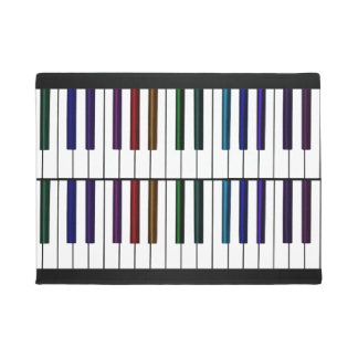 Colorful Music Piano Keys Festive Welcome Doormat
