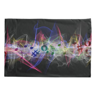 Colorful Music Style Pillowcase