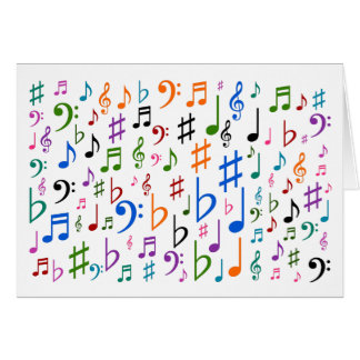 "Colorful Music Symbols + ""Happy Mother's Day!"" Card"