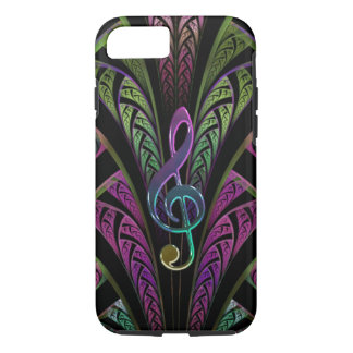 Colorful Music Treble Clef Fractal iPhone 7 Case