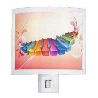 Colorful Musical Keyboard Night Light