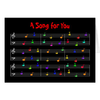Colorful Musical Notes Greeting Card