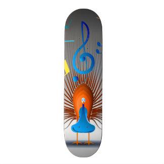 Colorful Musical Notes Peacock Skate Board Decks
