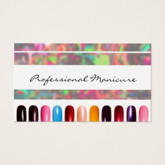 Colorful Nail Polish Manicurist Business Card
