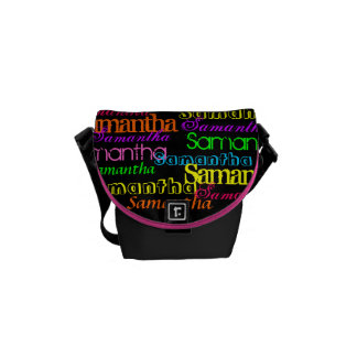 Colorful Name Collage Bag Commuter Bag