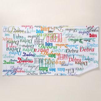 colorful names custom pattern stylish beach towel