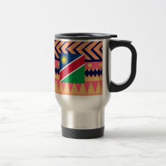 Colorful Namibia Flag Box Travel Mug