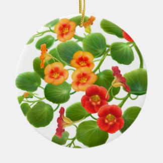 Colorful Nasturtium Flowers Ornament