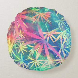 Colorful Nature 01 Round Pillow