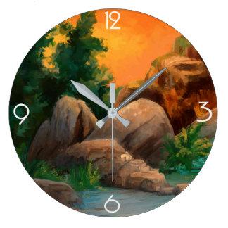 Colorful Nature Clock