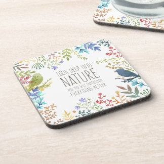 Colorful Nature Inspired Quote | Coaster
