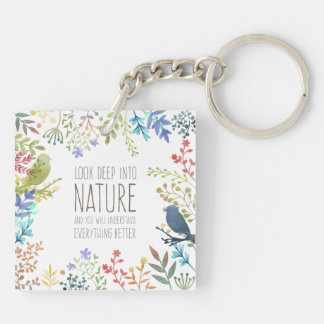Colorful Nature Inspired Quote | Keychain