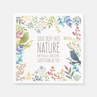 Colorful Nature Inspired Quote | Napkin