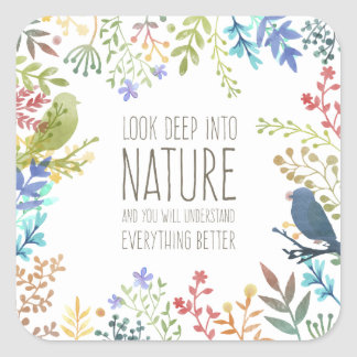 Colorful Nature Inspired Quote | Sticker Seal