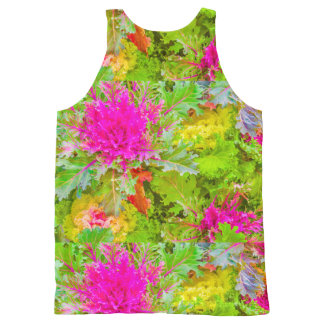 Colorful Nature Print Photo All-Over-Print Tank Top