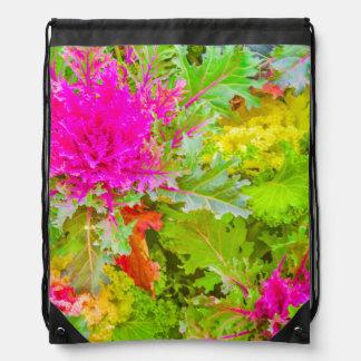 Colorful Nature Print Photo Drawstring Bag