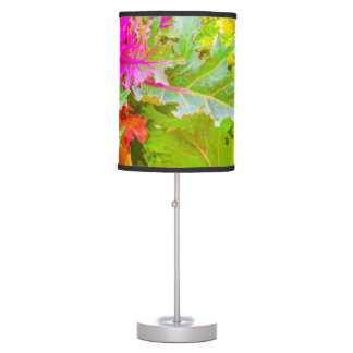 Colorful Nature Print Photo Table Lamp