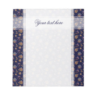 Colorful nautical pattern custom background notepad