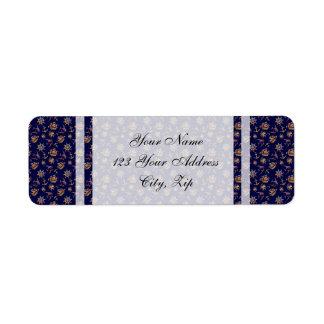 Colorful nautical pattern custom background return address label