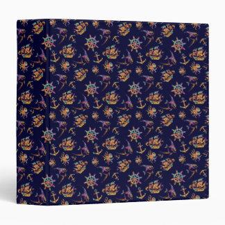Colorful nautical pattern custom background vinyl binders