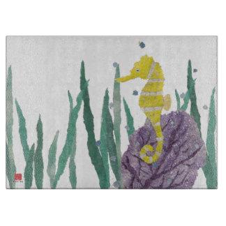 Colorful, Nautical, Seahorse Cutting Board