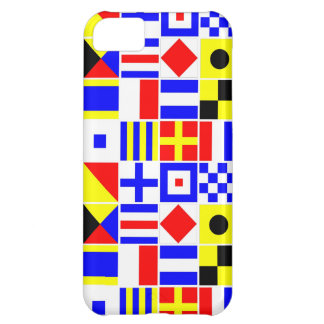 Colorful Nautical Signal Flags Pattern Cover For iPhone 5C