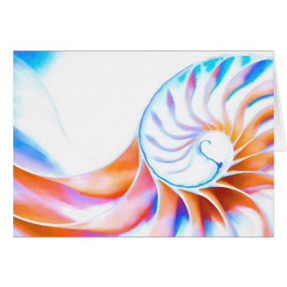 Colorful Nautilus Card