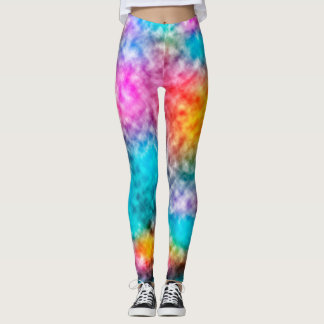 Colorful nebula clouds leggings