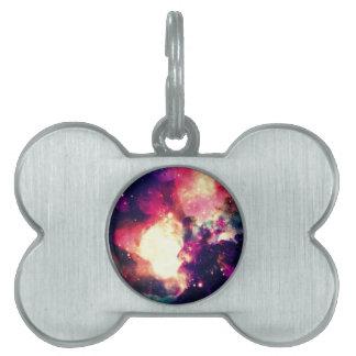 Colorful Nebula Pet Tags