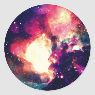 Colorful Nebula Round Sticker