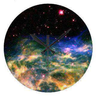 Colorful Nebula Wall Clock