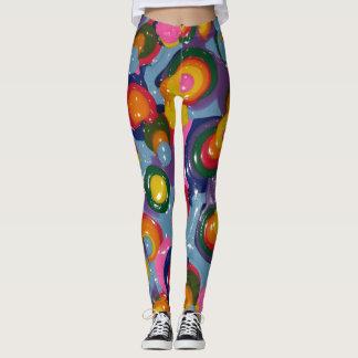 Colorful Neon Art Deco Women's Leggings Pants