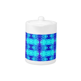 Colorful Neon Blue Royal Blue Tribal Pattern