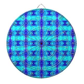 Colorful Neon Blue Royal Blue Tribal Pattern Dartboard