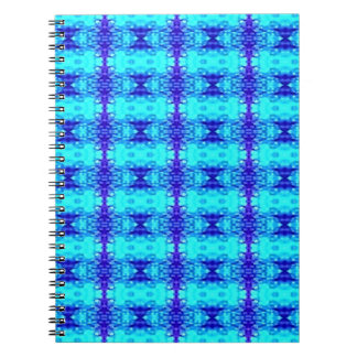 Colorful Neon Blue Royal Blue Tribal Pattern Notebook