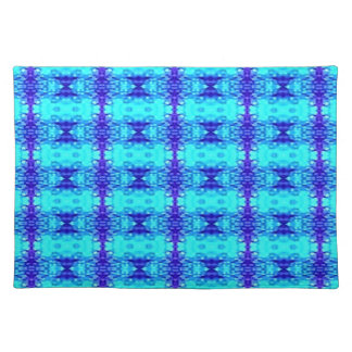 Colorful Neon Blue Royal Blue Tribal Pattern Placemat